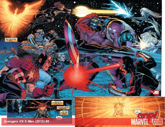 Avengers Vs. X-Men #5 preview art by John Romita Jr.