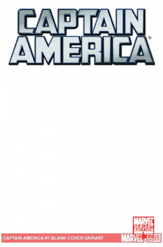 Captain America (2011) #1, Blank Cover Variant
