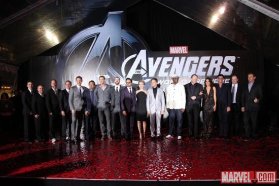 The cast of the Avengers at the world premiere