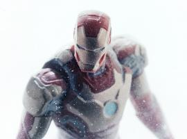 Iron Man action figure from Hasbro's Iron Man 3 Assemblers line
