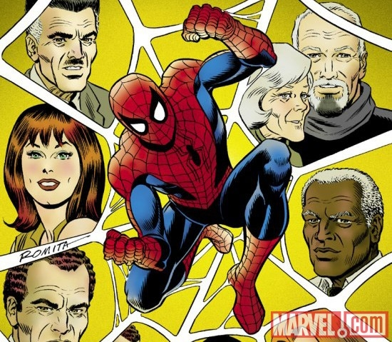 Image Featuring J. Jonah Jameson, May Parker, Robbie Robertson, Spider-Man