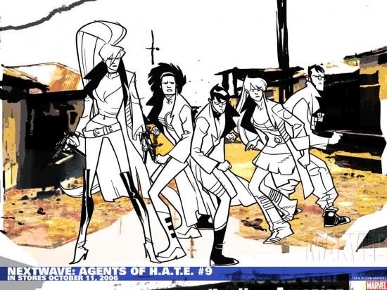 Nextwave: Agents of H.a.T.E. (2006) #9 Wallpaper