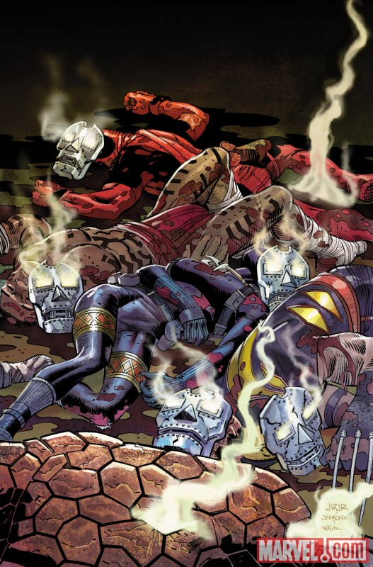 DOOMWAR #1 cover by John Romita Jr.