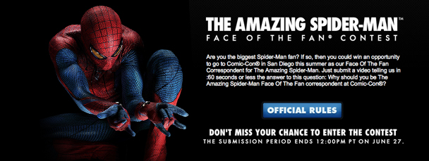 The Amazing Spider-Man Face of the Fan Contest