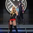 San Diego Comic-Con 201: Miracole &amp; Chris Burns as Ms. Marvel and Hawkeye