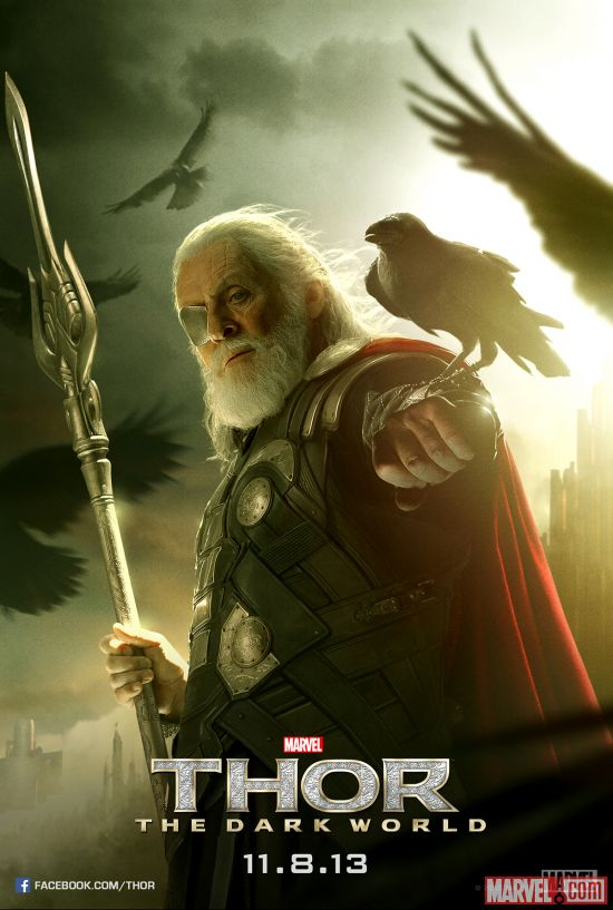 Odin character poster from Marvel's Thor: The Dark World