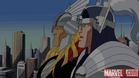 Screenshot of Thor and Balder from The Avengers: Earth's Mightiest Heroes!