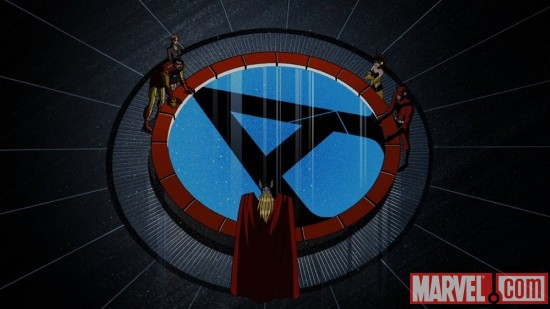 Screenshot of the Avengers from The Avengers: Earth's Mightiest Heroes!