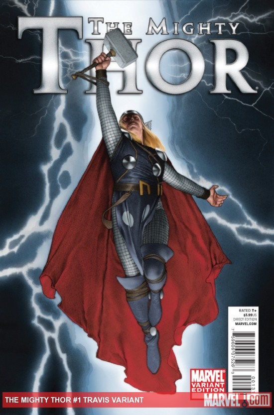 The Mighty Thor #1 variant cover by Travis Charest
