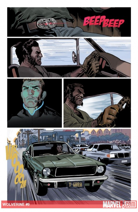 Wolverine (2010) #9 preview art by Daniel Acuna