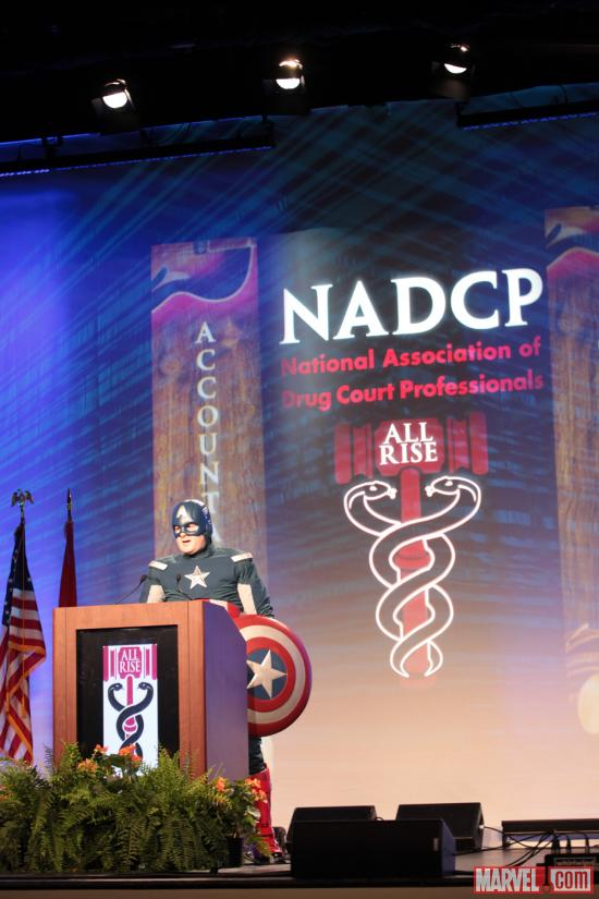 Captain America at the 18th annual NADCP Conference