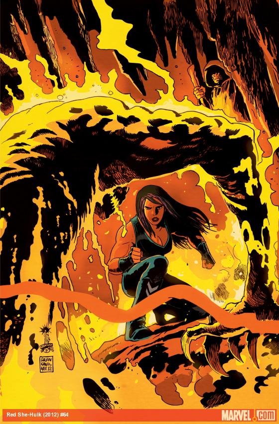 Red She-Hulk #64 cover by Francesco Francavilla