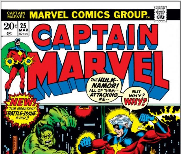 CAPTAIN MARVEL #25 COVER