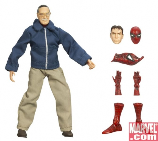 Stan Lee with Spider-Pieces