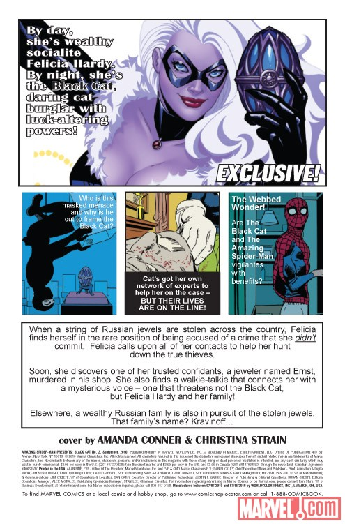 AMAZING SPIDER-MAN PRESENTS: BLACK CAT #2 recap page