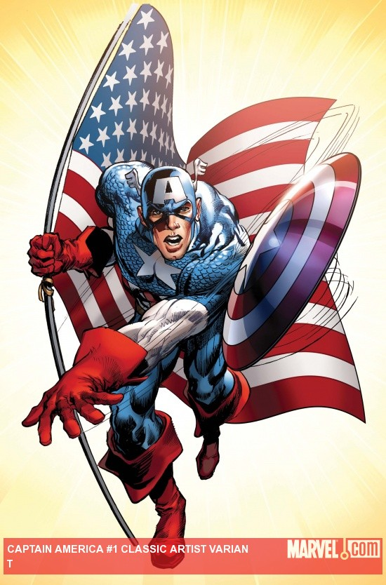 Captain America #1 Adams Variant cover
