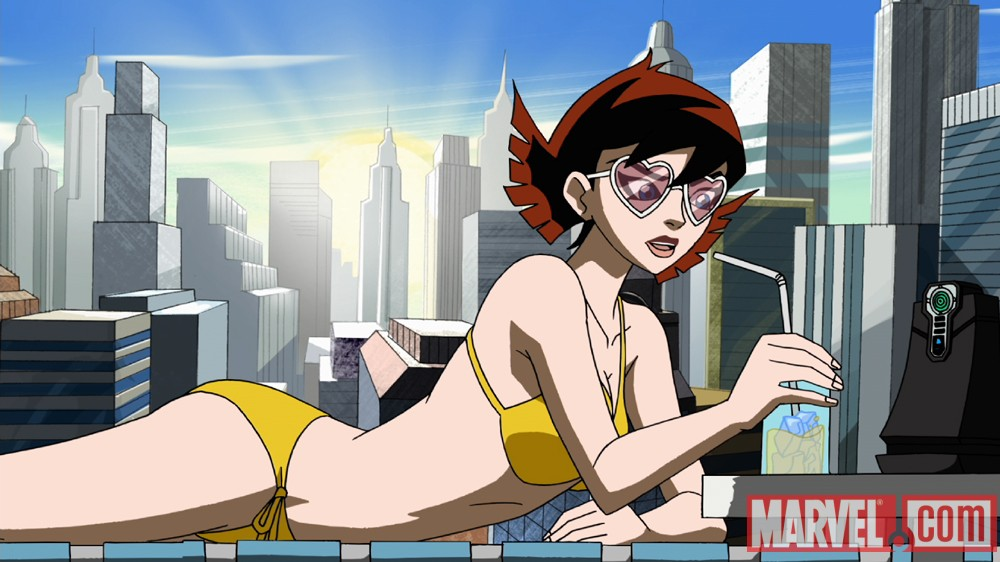 Screnshot of the Wasp from The Avengers: Earth's Mightiest Heroes!