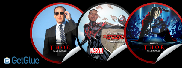 New Thor & Ultimate Spider-Man GetGlue Stickers