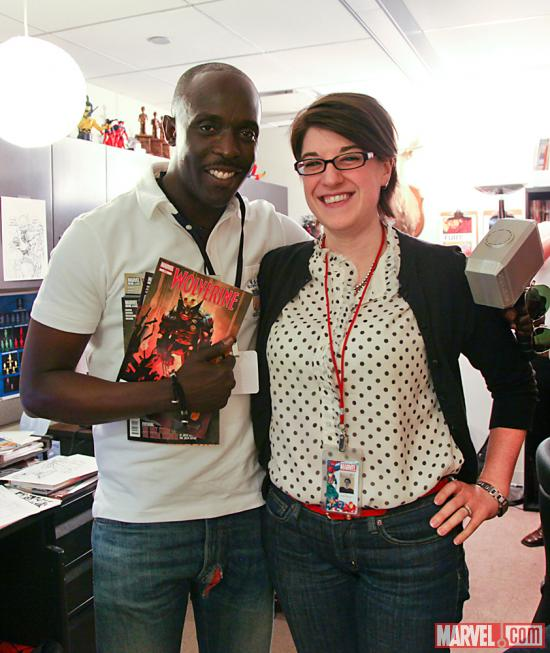 Actor Michael K. Williams with Marvel Editor Jeanine Schaefer