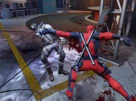 Screenshot from the Deadpool video game