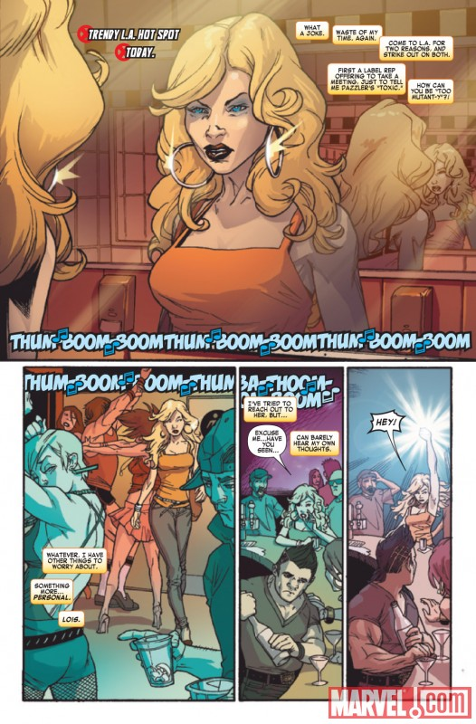 DAZZLER #1 preview art by Kalman Andrasofszky