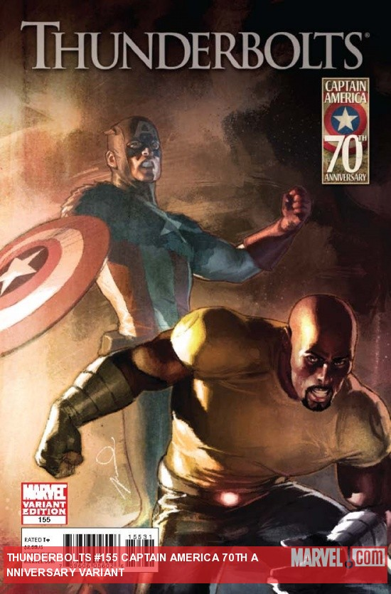 THUNDERBOLTS 155 CAPTAIN AMERICA 70TH ANNIVERSARY VARIANT