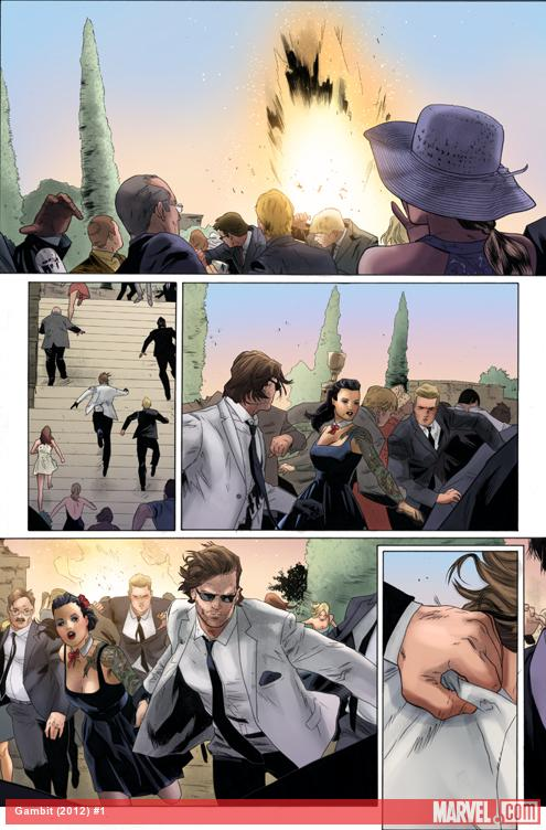 Gambit #1 (2012) preview art by Clay Mann