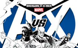AVENGERS VS. X-MEN 10 BRADSHAW SKETCH VARIANT (1 FOR 200, WITH DIGITAL CODE)