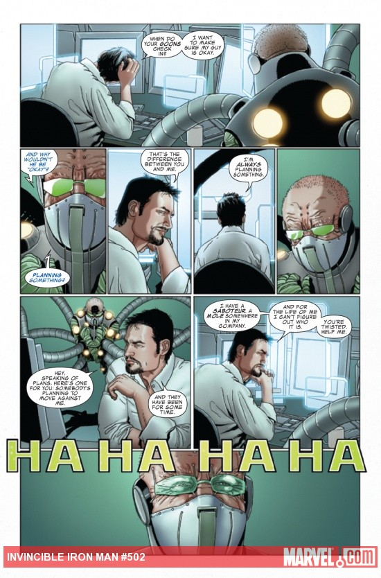 Invincible Iron Man #502 preview art by Salvador Larroca