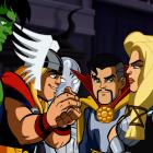 Valkyrie and Doctor Strange meet the Squaddies in The Super Hero Squad Show