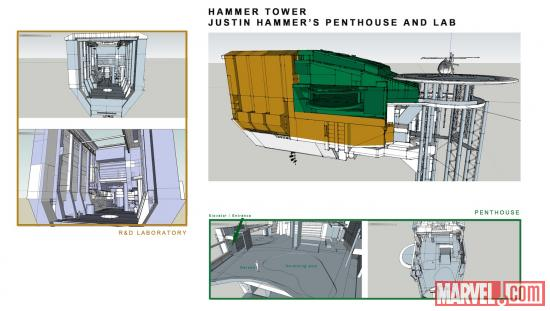 Hammer Tower concept art from Iron Man: Armored Adventures
