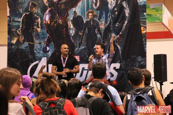 Arune Singh and Stephen Wacker at Fan Expo 2012