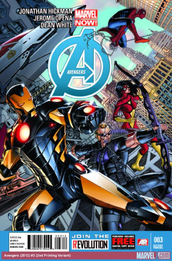 AVENGERS 3 2ND PRINTING VARIANT