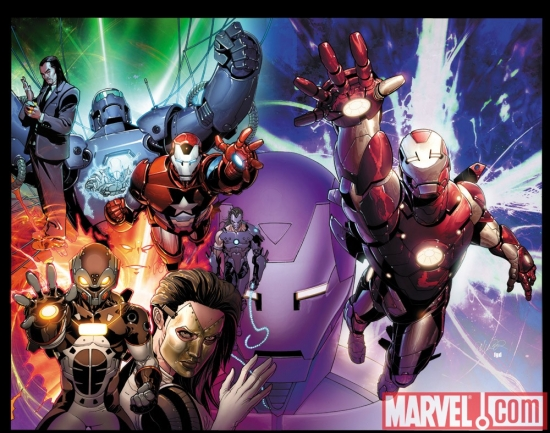 Image Featuring Norman Osborn, Iron Man, Mandarin, Whiplash (Mark Scarlotti), Madame Masque