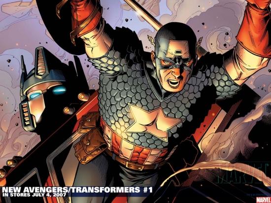 New Avengers/Transformers (2007) #1 Wallpaper