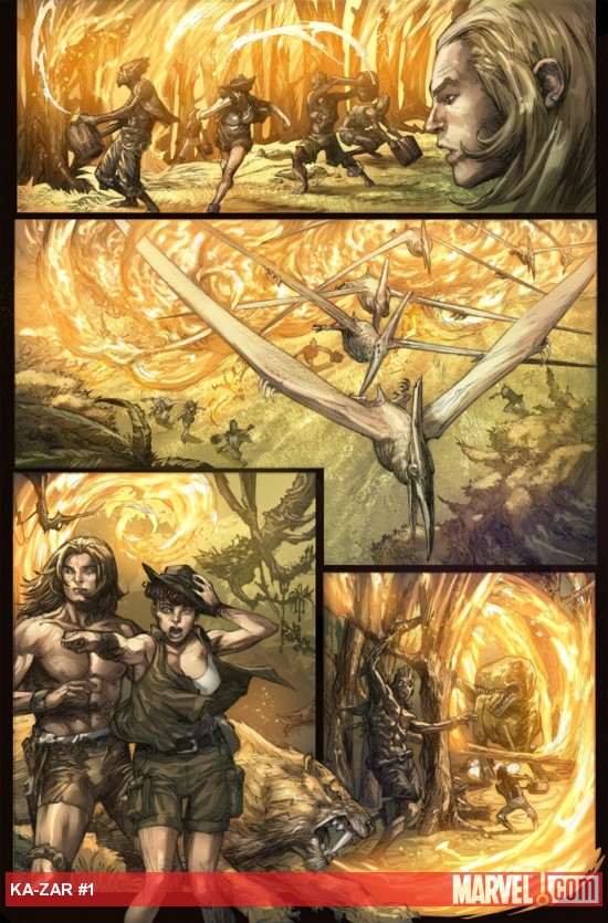 Ka-Zar (2011) #1 preview art by Pascal Alixe