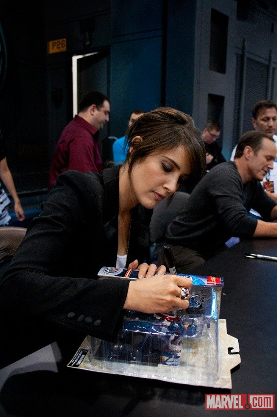 New York Comic Con 2011: Cobie Smulders at the Marvel Booth