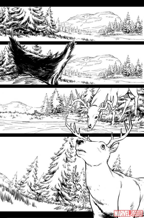 Wolverine: Season One black and white preview art by Salva Espin