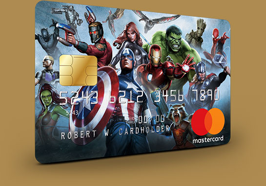 Marvel Mastercard The Avengers card design