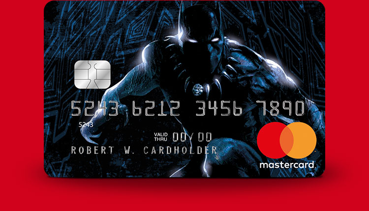 Marvel Mastercard Black Panther card design