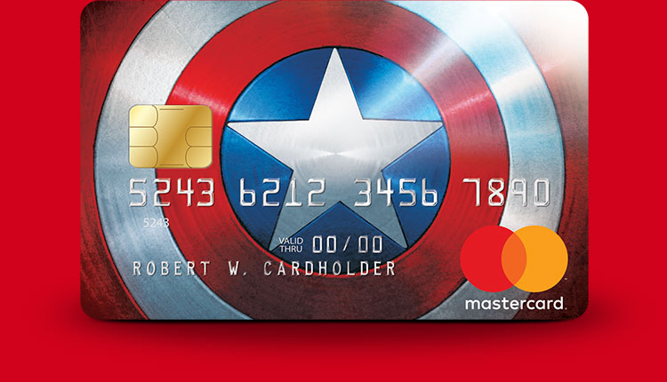 Marvel Mastercard Captain America card design