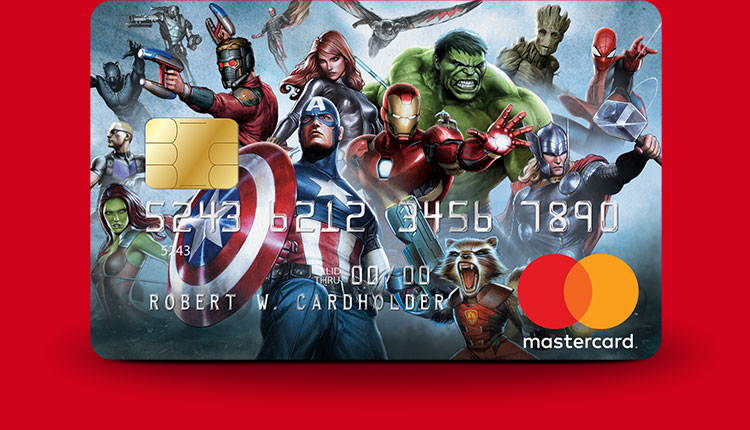 Marvel Mastercard The Avengers card design