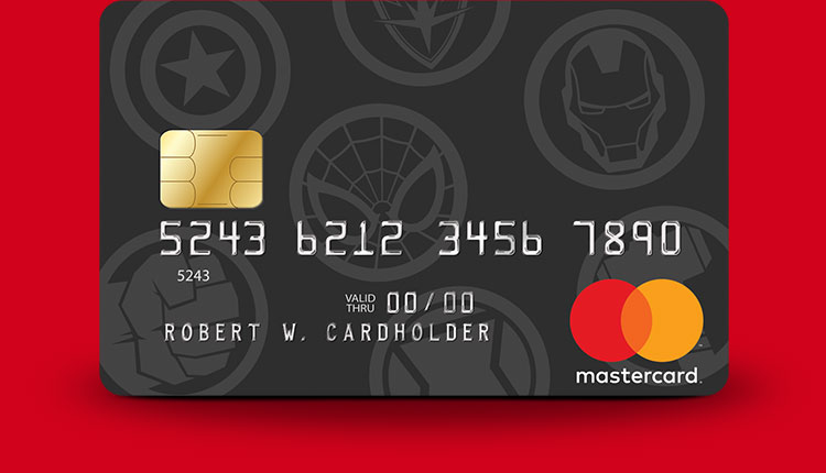 Marvel Mastercard Marvel Icons card design