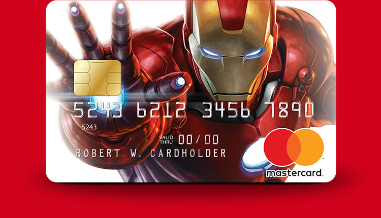 Marvel Mastercard Iron Man card design