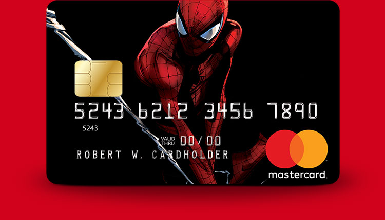 Marvel Mastercard Spider-Man card design