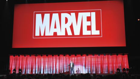 Marvel Studios President Kevin Feige on stage at D23 Expo