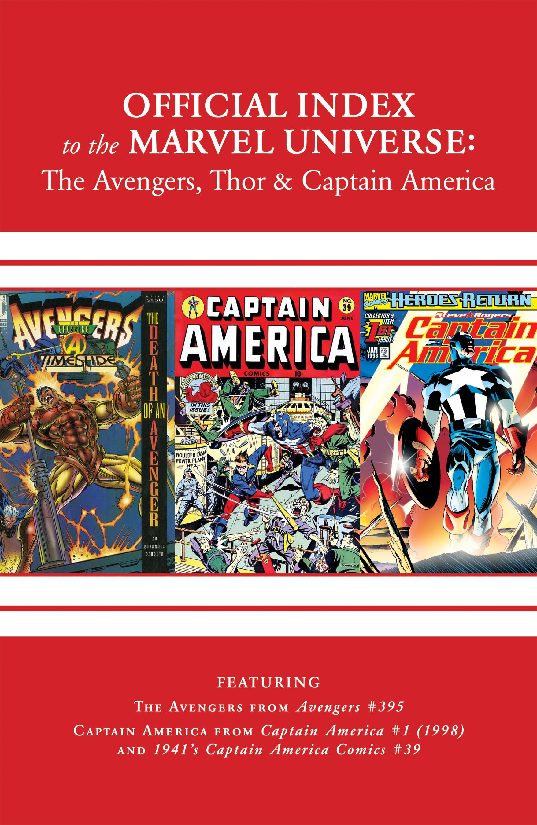 Avengers, Thor & Captain America: Official Index to the Marvel Universe (2011) #13