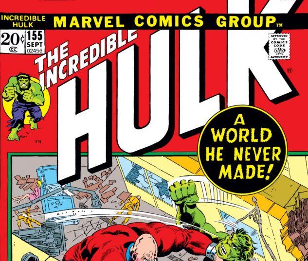 Incredible Hulk (1962) #155 Cover