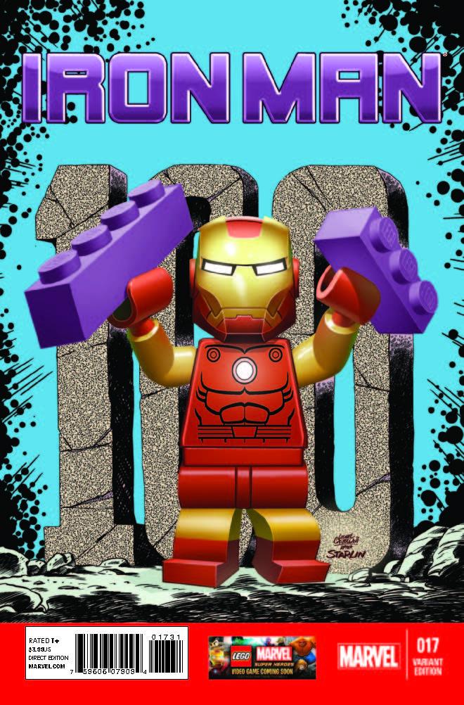 Iron Man (2012) #17 (Castellani Lego Variant)