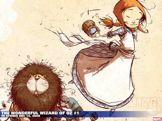 The Wonderful Wizard of Oz (2008) #1 (CAMPBELL VARIANT) Wallpaper